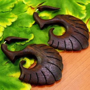 Tibetan Brown Wooden Earrings