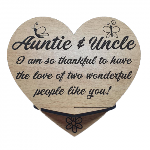 Auntie & uncle plaque