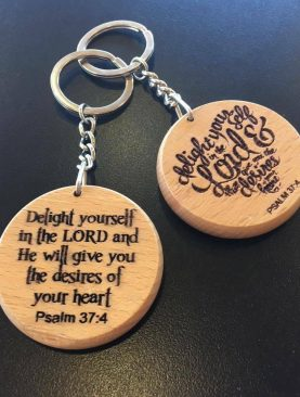 Delight yourself in the LORD and He will give you desires of your heart Keyring Gift