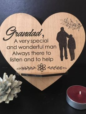 Grandad, A very special and wonerful man. Always there to listen and to help. Top Table Plaque