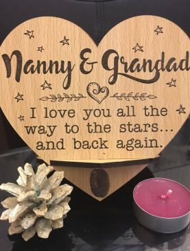 Nanny & Grandad, I love you all the way to the stars ... and back again. Top Table Plaque