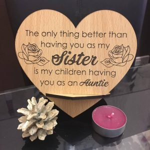 Heart Sister Plaque