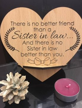 Sister in law Plaque