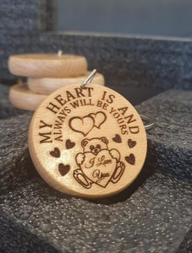 My heart is and always will be yours, I love you Keyring Gift