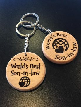 World's Best Son in law Keyring Gift