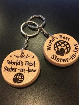 World's Best Sister in law Keyring Gift