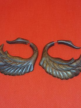 Tribal Swan Wooden Earrings