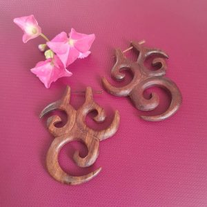 Tribal Organic Wooden Earrings