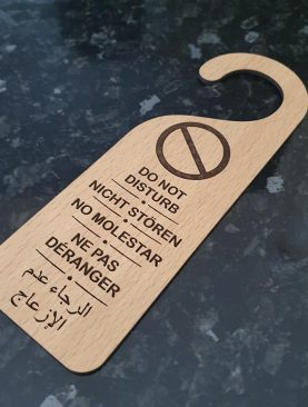 DO NOT DISTURB multi Language Wooden Door Sign