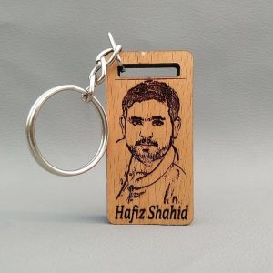Engraved Photo Keyring