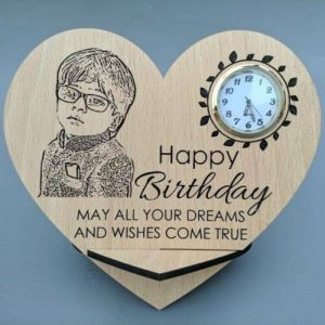 Heart Plaque with watch