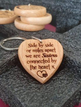 Side by side or miles apart we are sisters connected by the heart