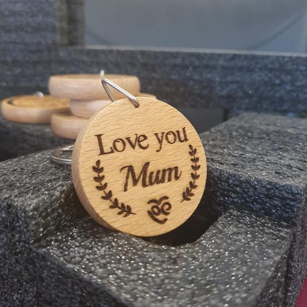 Love you Mum Keyring