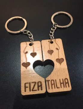 Couples Split Keyring