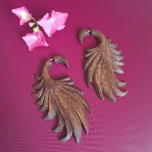 Tribal Wing Wooden Earrings