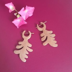 Natural Colour Wooden Earrings