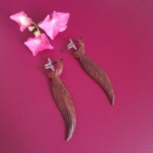 Tibetan Wooden Earrings