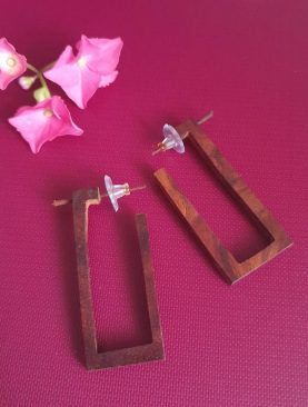 Tibetan Brown Handmade Earrings