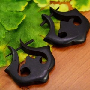 Tibetan Ebony Wooden Earrings