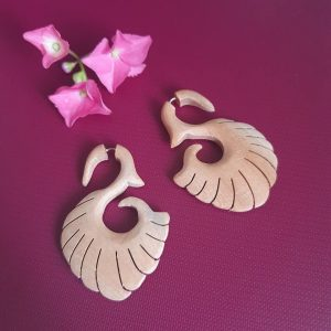 Tibetan Natural Wooden Earrings