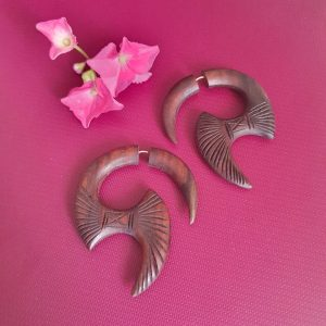Tibetan Organic Wooden Earrings