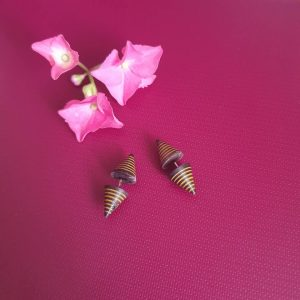 Tibetan Tapers Wooden Earrings