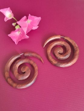 Tribal Bohemian Wooden Earrings