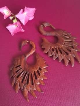 Tribal Swan Design Earrings