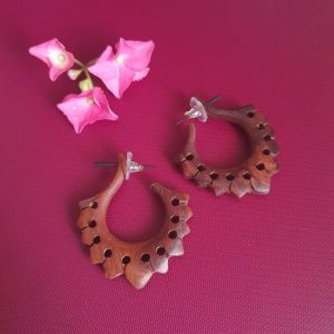 Tribal Traditional Wooden Earrings