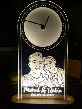 Personalised LED Portrait Clock