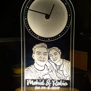 Personalised Anniversary Portrait Clock