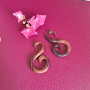 African Swan Wooden Earrings