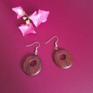 African Trible Wooden Earrings