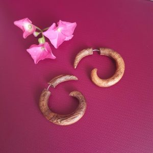 Boho Wooden Earrings