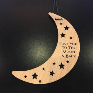 Love you to the moon Hanging Plaque