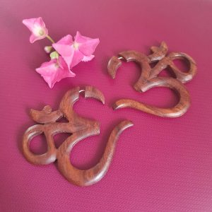 Om Wooden Earrings