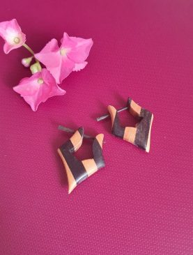 Traditional Wooden Earrings sew 247
