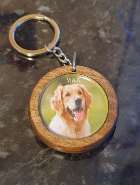 Photo Personalised Wooden Keyring