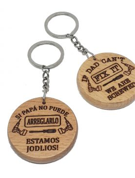 Polish Dad Keyring
