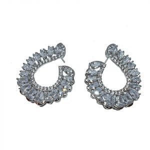 Luxury Cubic Zirconia Big Party Stud Earrings