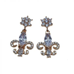 White Chandelier Cubic Zirconia Earrings