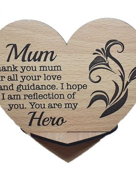 Mum you are my hero Plaque